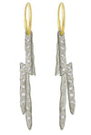 Pavé Jupiter Lightning Bolt • Endless Hoop Charm Earring-Brevard