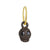 Black Diamond Jumbo Rodger • Endless Hoop Charm Earring-Brevard