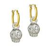 Jumbo Rodger with Stones • Latch Hoop Charm Earring-Brevard
