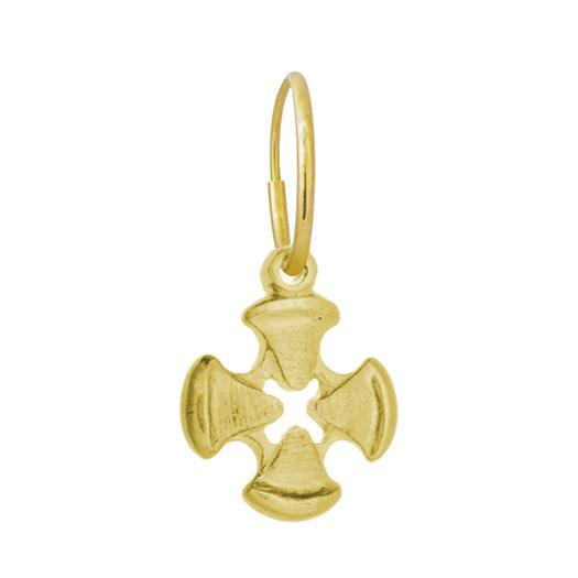 Gold K.T. Cross • Endless Hoop Charm earring-Brevard