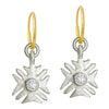 Legion of Honor with Stone • Endless Hoop Charm Earring-Brevard