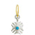 Turquoise Legion of Honor • Endless Hoop Charm Earring-Brevard