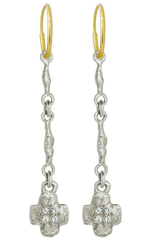 Linked Old Money Cruz Earring with Stones-Brevard