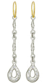 Linked Old Money Drop with Stones • Endless Hoop Charm Earring-Brevard