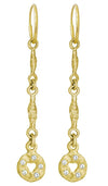 Gold Linked Old Money with Stones • Endless Hoop Charm Earring-Brevard