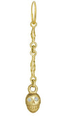 Gold Linked Pirate with Stones • Endless Hoop Charm Earring-Brevard