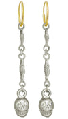 Linked Pirate with Stone • Endless Hoop Charm Earring-Brevard