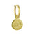 Gold Living Beauty • Latch Charm Earring-Brevard