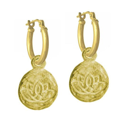 Gold Living Beauty Earring with Latch Hoop-Brevard