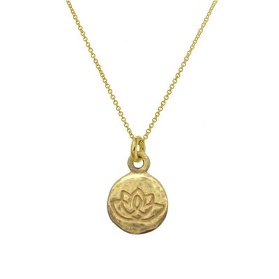Gold Living Beauty Charm Necklace-Brevard
