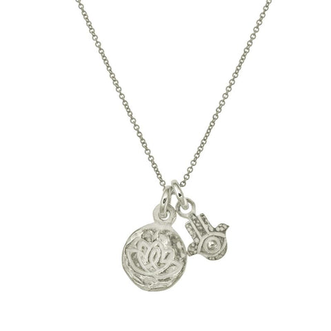 Living Beauty Double Charm Hamsa Necklace-Brevard