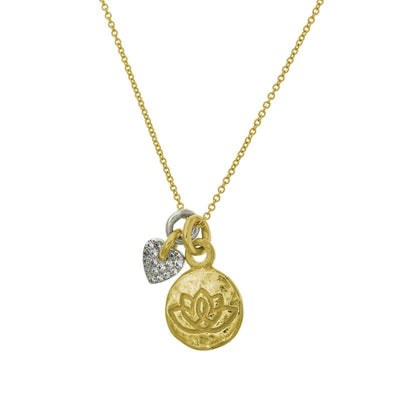 Two-Tone Living Beauty Double Charm Thunderheart Necklace-Brevard