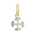 Lotus Cross • Endless Hoop Charm Earring-Brevard