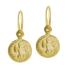 Gold Marina Cross • Endless Hoop Charm Earring-Brevard