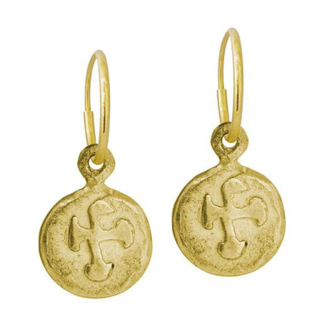 Gold Marina Cross Earring-Brevard