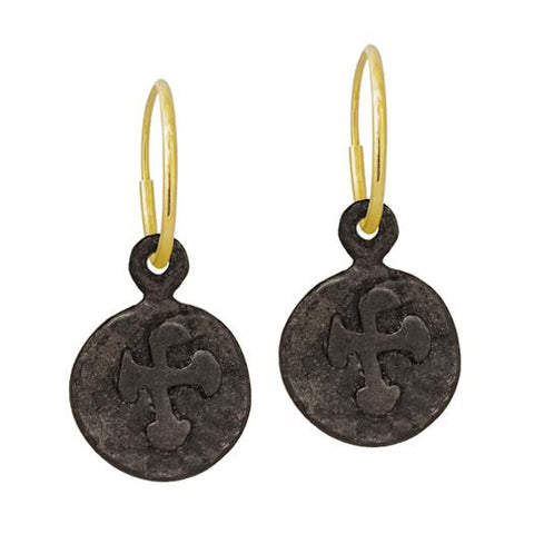 Oxidized Marina Cross Earring-Brevard