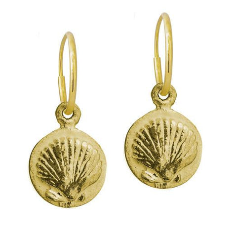 Gold Marina Shell Earring-Brevard