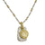 Two-Tone Marina Shell Layered Tablet Necklace-Brevard
