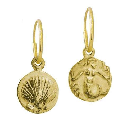 Gold Mermaid + Marina Shell Mismatch Earring Pair-Brevard