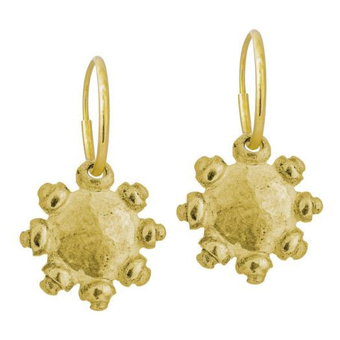 Gold Medium Sun Earring-Brevard