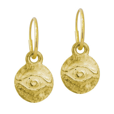 Gold Medium Horus Earring-Brevard