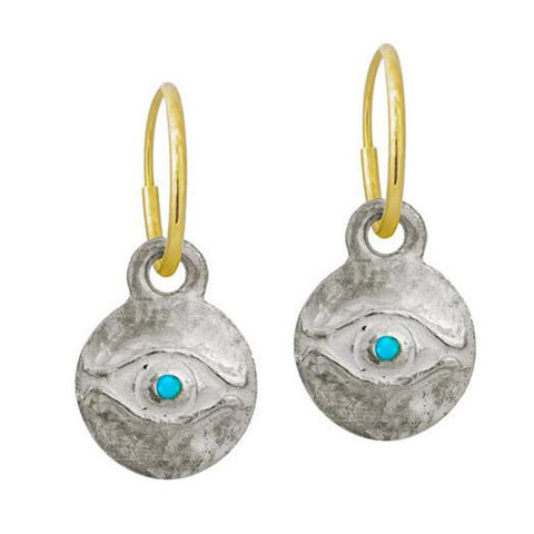 Medium Horus Earring with Turquoise-Brevard
