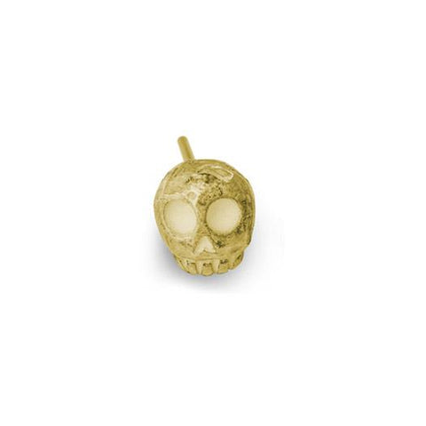 Gold Medium Rodger Stud Earring-Brevard
