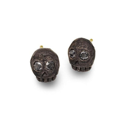 Black Diamond Medium Rodger Stud Earring-Brevard