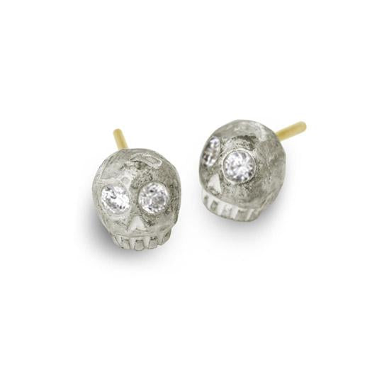Medium Rodger Stud Earring with Stones-Brevard