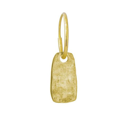Gold Medium Stele • Endless Hoop Charm Earring-Brevard