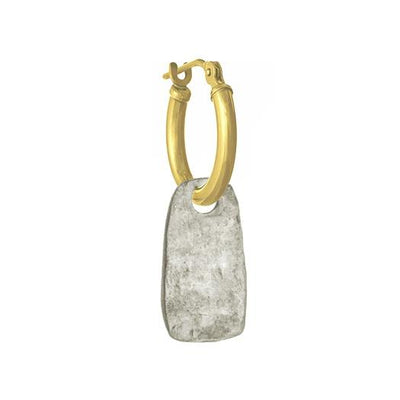 Medium Stele • Latch Hoop Charm Earring-Brevard