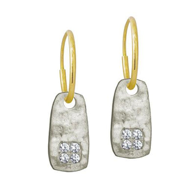 Medium Stele Earring with Stones-Brevard
