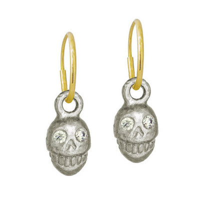Medium Pirate with Stone • Endless Hoop Charm Earring-Brevard