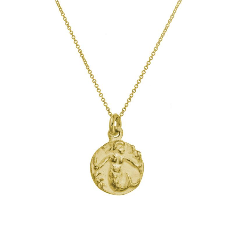 Mermaid charm necklace lee breavrd 18k gold brevard gold mermaid charm necklace brevard aloadofball Gallery