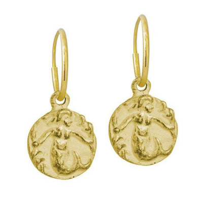 Gold Mermaid Earring-Brevard