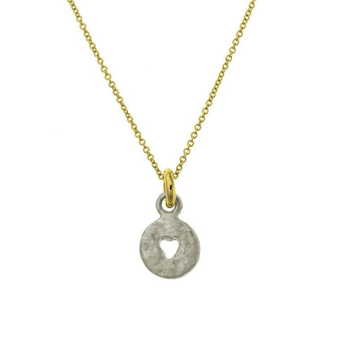 Two-Tone Mini Money Charm Necklace-Brevard