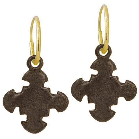 Oxidized Cruz Earring-Brevard
