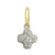 Pavé Old Money Cruz • Endless Hoop Charm Earring-Brevard