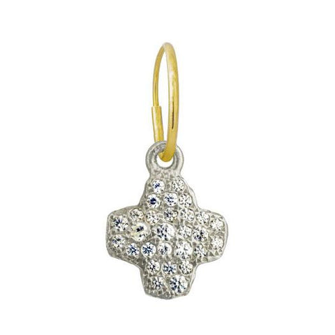 Pavé Old Money Cruz Earring-Brevard