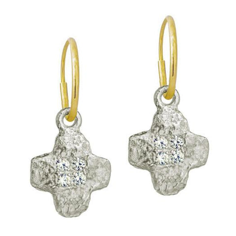 Old Money Cruz Earring with Stones-Brevard
