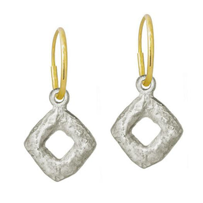 Diamond Old Money • Endless Hoop Charm Earring-Brevard