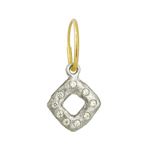 Diamond Old Money Earring with Stone-Brevard