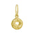 Gold Old Money • Endless Hoop Charm Earring-Brevard