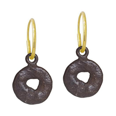 Oxidized Old Money • Endless Hoop Charm Earring-Brevard