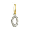 Oval Old Money • Endless Hoop Charm Earring-Brevard