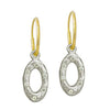 Oval Old Money with Stone • Endless Hoop Charm Earring-Brevard