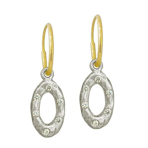 Oval Old Money Earring with Stone-Brevard