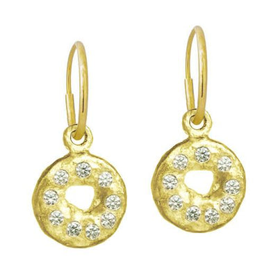 Gold Nine-Stone Old Money • Endless Hoop Charm Earring-Brevard