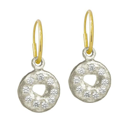 Nine Stone Old Money • Endless Hoop Charm Earring-Brevard