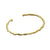 Gold Old Money Narrow Cuff-Brevard